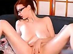 Big boobs redhead masturbating on cam
