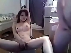 Asian girl fucked on webcam