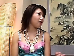 Playing with her japanese hairy vagina