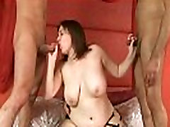 Busty Laura Lou 3 Cock Orgy