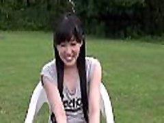 Schoolgirl learns how to suck rod