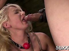 Curvy honey experiences pain in sexy bdsm sex session