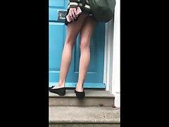 Teen Upskirt Tiny Miniskirt