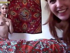 Horny lesbian teens rub pussies - TheWildCam.COM