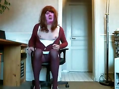 Hottest homemade shemale video with Stockings, Redhead scenes