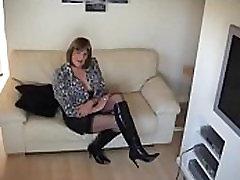 Sexy British Tranny Prostitute modelling slutty outfits - DickGirls.xyz