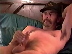 Mature Man Cowboy Jacks Off