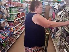 White granny upskirt