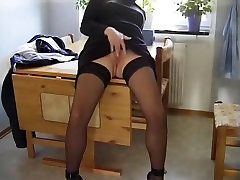 Amazing homemade BDSM, Blowjob xxx movie