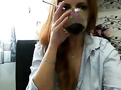 Amazing redhead babe with big boobs fuck a dude
