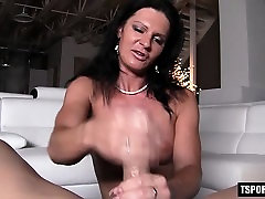 Russian shemale rimjob and cumshot