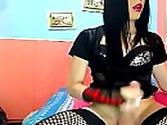 Shemale Goth Tranny Playing In Her Sexy Outfit See More - shemaleheaven.co.uk
