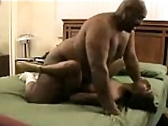 Fat guy gives active black dick
