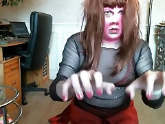 Fabulous homemade shemale clip with Webcam, Solo scenes