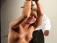 Amazing amateur BDSM, Blonde sex scene