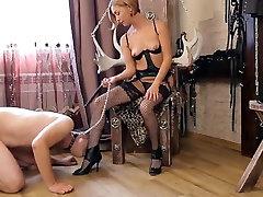 Horny homemade Femdom, Slave sex clip