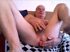 playing with my butt plug watching a gay gangbang.mp4