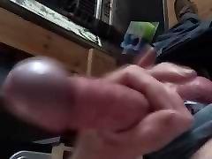 Steel cock ring wank with panties