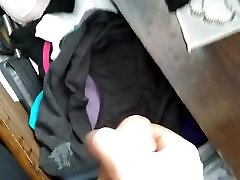 Sissy bottom cums in not mom&039;s panties