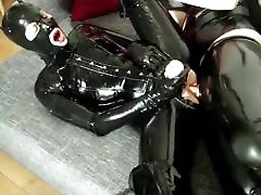 Kinky Slut In Latex Kitty Cat Suit Fucked In The Ass