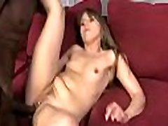 White girl convinced to swallow cum from black cock 1