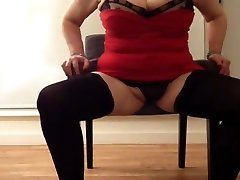 Sexy granny huge tits playing again
