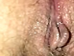 Slut wife rubbing cum filled pussy and asshole twitching after orgasm