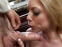 Sexy babe Shawna Lenee deep throats a huge dick