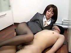 Hottest Japanese model Nozomi Hara in Amazing Foot Fetish, BDSM JAV clip