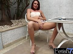 Sexy ts Lara Machado burning up her ciggs teasingly