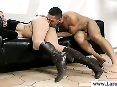 Mature milf in stockings plowed from behind