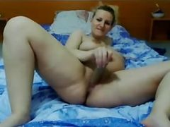 Pregnant Busty Blonde Dildoing & Milking