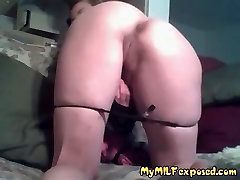 Amateur MILF exposed on camera Flashing her shaved pussy