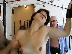 French slut sodomized in a BDSM game