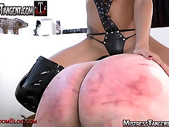 Brutal beating face sit and cock torture with Tangent