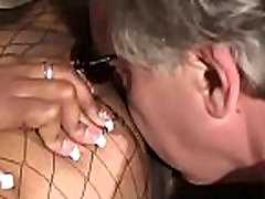 Chick gets her boots licked by slave in concupiscent femdom action