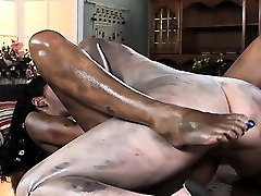 Messy and sexy lesbian lovers