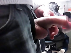 my big dick fash, COWORKER sees through hairrr