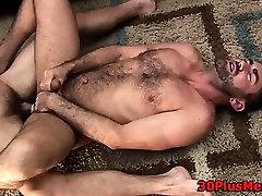 Cumming on bears stomach
