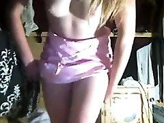 Cutie Pulls Down Her Panties