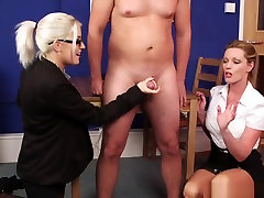 British Office best ever threesome big tit Wank Sub In Breakroom