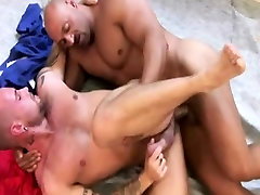 Gay muscle hunk fucked close up