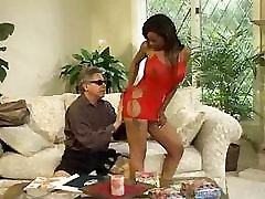 Black babe gets bent over and gets a good fucking on the couch