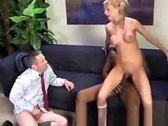 Humiliated Cuckold Watches Femdoms
