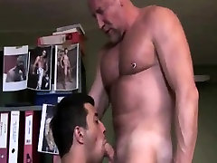 Old gay guy getting some head from stud