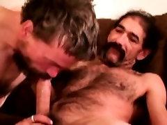 Hairy gaystraight bear sucking cock