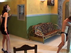 Bullwhipped by 2 Cruel Beauties on Loboutini Pumps