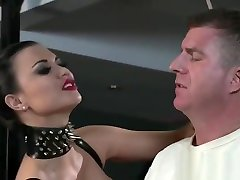 Slave in straitjacket gets naika dipika bondage femdom