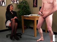 Classy office asa akira cheer leader humiliates submissive