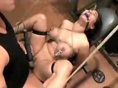 Busty Jessica Bangkok get a bondage and sex workout